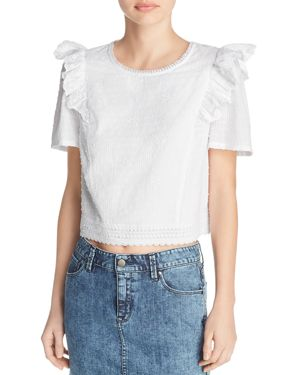 BELTAINE RUFFLED LACE TOP - 100% EXCLUSIVE