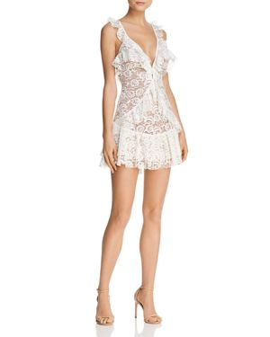 For Love & Lemons Tati Ruffled Lace Dress - 100% Exclusive