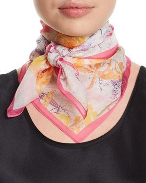 FRAAS FLORAL SILK SQUARE SCARF