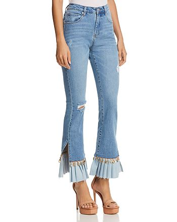 BLANKNYC - Embellished Flared Jeans in Love Cry - 100% Exclusive