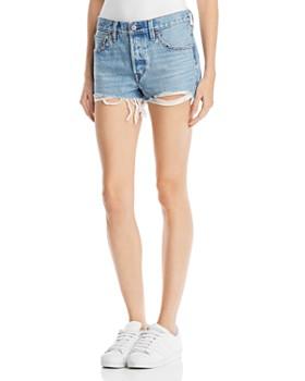 Levi's - 501® Embellished Denim Shorts in Hotline Bling