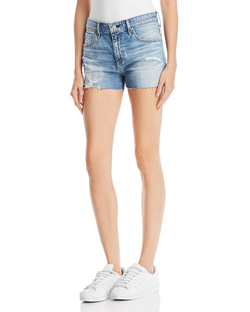 AG - Bryn Denim Shorts in 16 Years Indigo Deluge Destructed