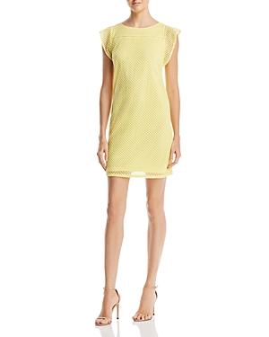 Adrianna Papell Diamond-Jacquard Shift Dress