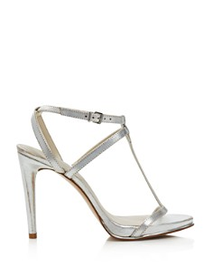Kenneth Cole - Women's Bellamy Leather High-Heel T-Strap Sandals