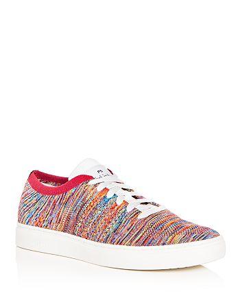 Paul Smith - Men's Doyle Multistripe Knit Lace Up Sneakers
