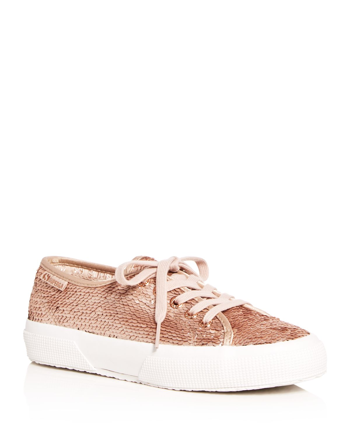 Superga Women's Sequin Lace Up Sneakers