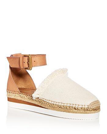 See by Chloé - Women's Ankle Strap D'Orsay Espadrille Platform Sandals