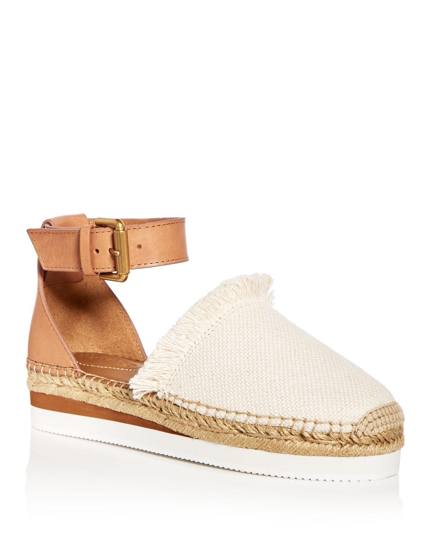 Chloé Women's Ankle Strap D'Orsay Espadrille Platform Sandals