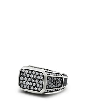 David Yurman - Streamline Pavé Signet Ring with Black Diamonds