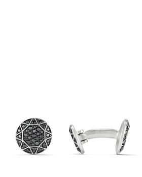 David Yurman - Pavé Cufflinks with Black Diamonds