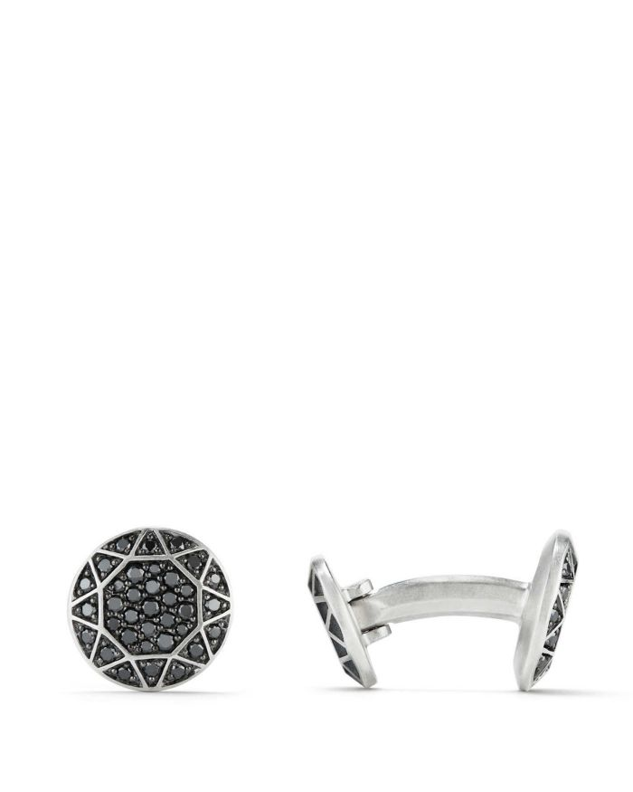 David Yurman Pavé Cufflinks with Black Diamonds   | Bloomingdale's