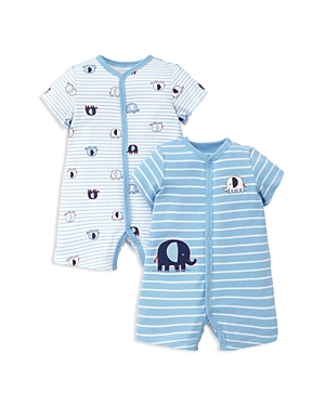 Little Me Boys Elephant Rompers Set of 2  Baby