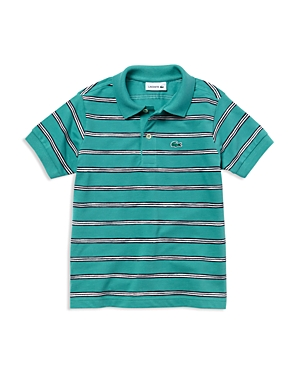Lacoste Boys MiniStripe Pique Polo  Little Kid Big Kid