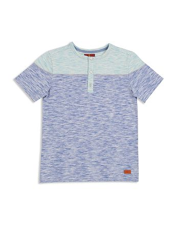 7 For All Mankind - Boys' Color-Block Henley Tee - Big Kid