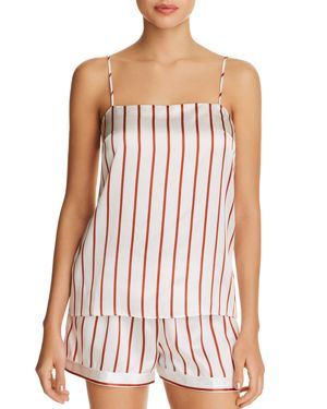 GINIA STRIPED SILK CAMI