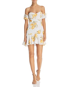 For Love & Lemons - Lemonade Off-the-Shoulder Dress