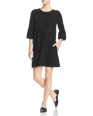 Eileen Fisher Silk Bell-Sleeve Dress 2877288