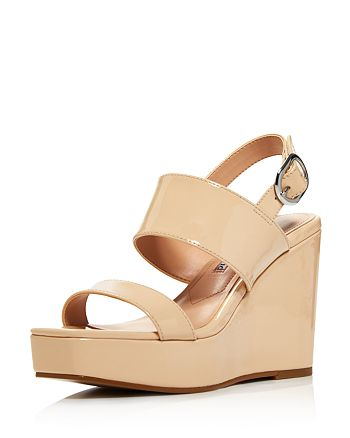 Charles David - Women's Jordan Patent Leather Platform Wedge Sandals