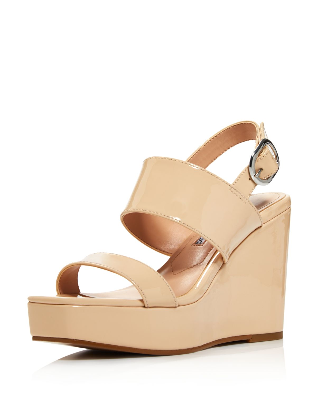 Charles David Women's Jordan Patent Leather Platform Wedge Sandals