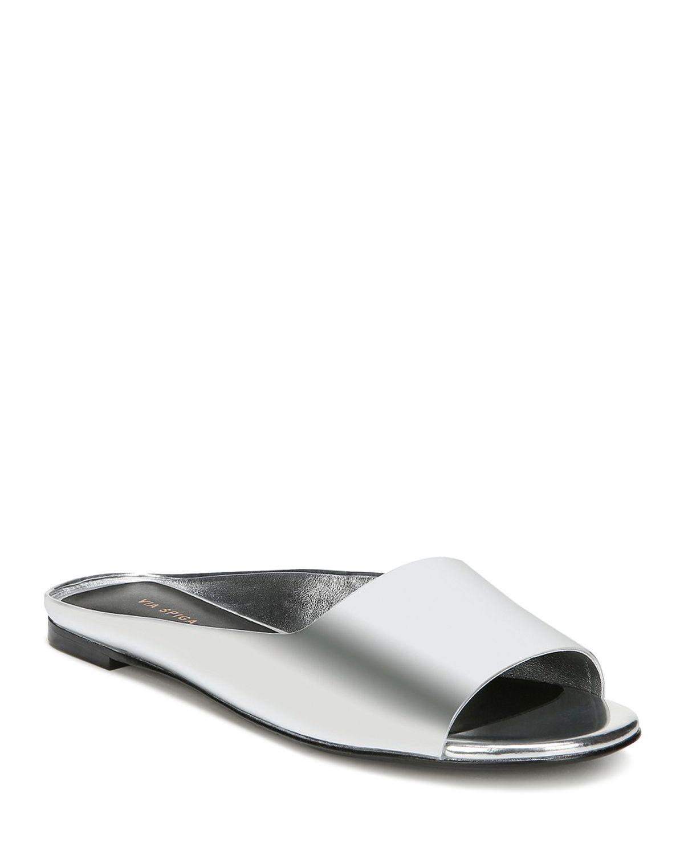 Via Spiga Women's Hana Leather Slide Sandals - 100% Exclusive