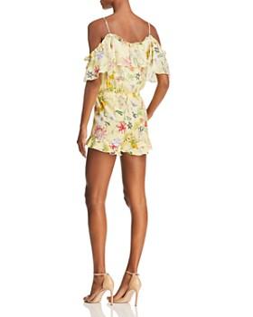 Parker - Ringly Cold-Shoulder Floral Silk Romper - 100% Exclusive