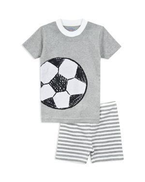 Sara's Prints Boys' Soccer Pajama Shirt & Shorts Set - Little Kid 2888541