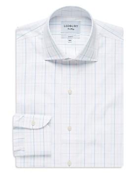Ledbury - Windowpane Slim Fit Dress Shirt