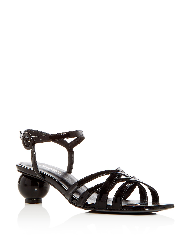 Carel Women's Patent Leather Crisscross Sphere Heel Sandals u04UrBuiuA