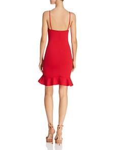 Sunset & Spring - Ruffle-Hem Body-Con Dress - 100% Exclusive