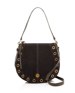 SEE BY CHLOE KRISS SMALL LEATHER & SUEDE HOBO