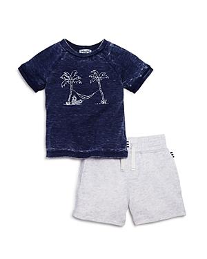 Splendid Boys' Palm Tree Sweatshirt & Terry Shorts Set - Baby