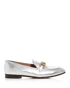 Salvatore Ferragamo - Women's Boy Metallic Leather Loafers