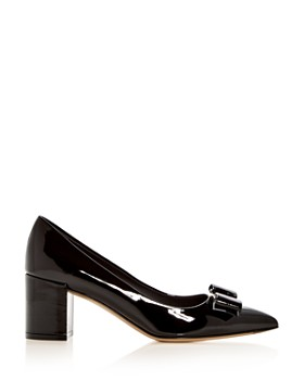 Salvatore Ferragamo - Women's Alice 55 Patent Leather Block Heel Pumps