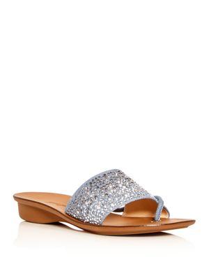 Paul Green Women's Pixie Embellished Denim Slide Sandals 2831527