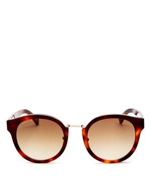 LONGCHAMP Women'S Heritage Family Round Sunglasses, 51Mm in Havana