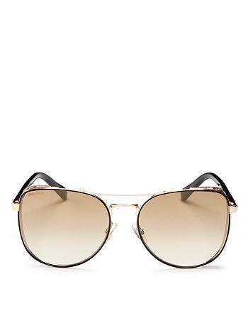 Jimmy Choo - Women's Sheena Mirrored Brow Bar Square Sunglasses, 60mm