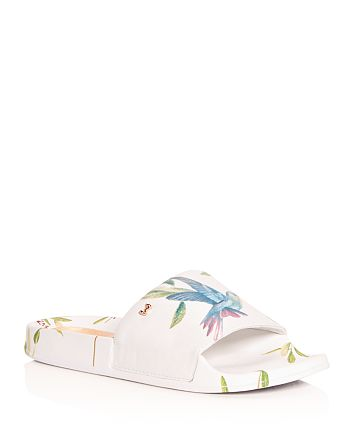 d62f0ce9094e Ted Baker Women s Aveline Hummingbird Print Pool Slide Sandals ...