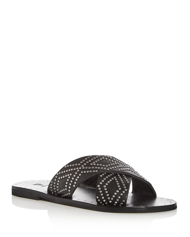 Frye Women's Ally Studded Leather Crisscross Slide Sandals ohSopzpLFH