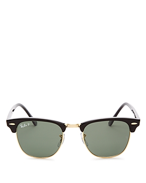 Ray Ban RAY-BAN UNISEX POLARIZED CLASSIC CLUBMASTER SUNGLASSES, 51MM