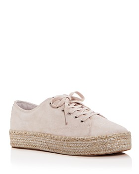Tretorn - Women's Eve Glitter Suede Lace Up Platform Espadrille Sneakers