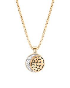 "John Hardy 18K Yellow Gold Dot Pavé Diamond Moon Phase Pendant Necklace, 16"" - Bloomingdale's_0"