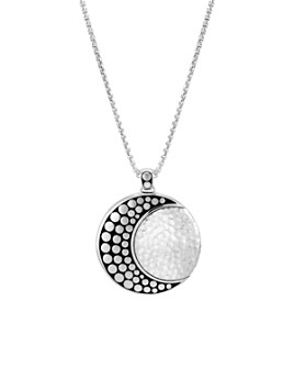 """JOHN HARDY - Sterling Silver Dot Hammered Moon Pendant Necklace, 36"""""""