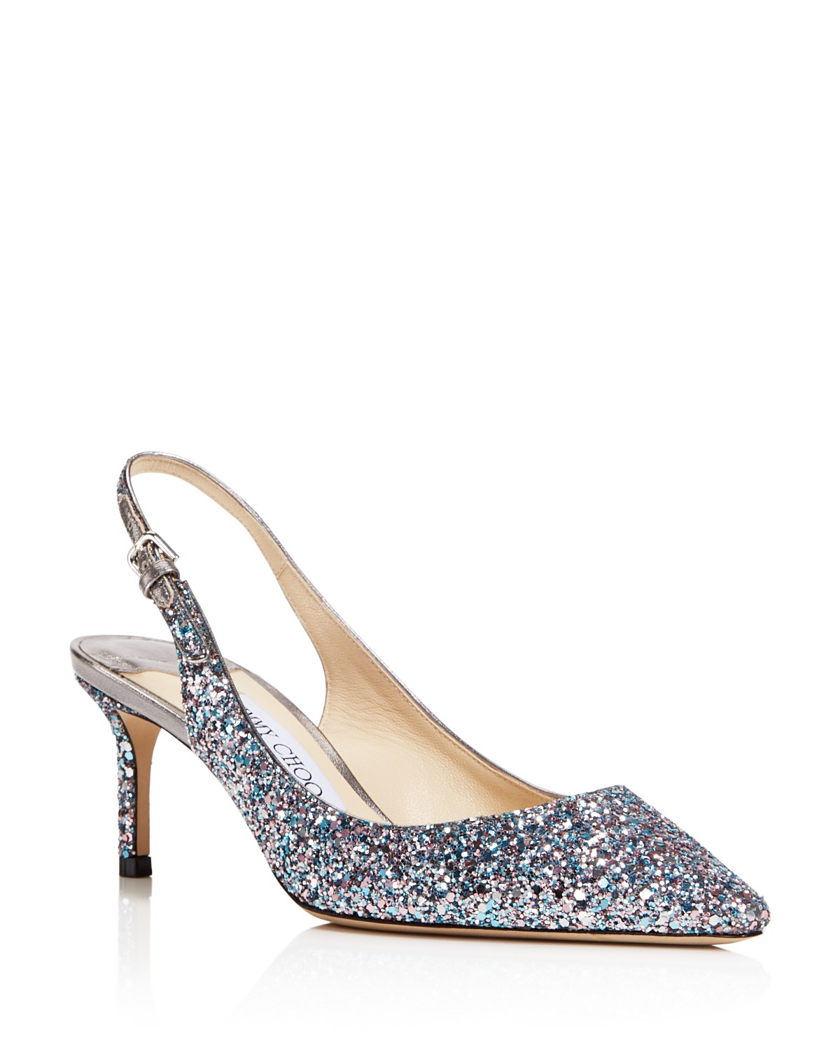 Jimmy choo 60MM ERIN GLITTERED SLINGBACK PUMPS PK6f1Ql