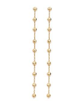 Moon & Meadow - Diamond-Cut Beaded Drop Earrings in 14K Yellow Gold - 100% Exclusive