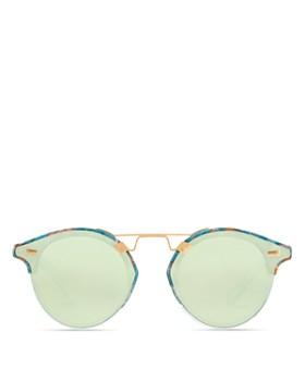 Krewe - Women's STL II Nylon 24K Mirrored Round Sunglasses, 63mm