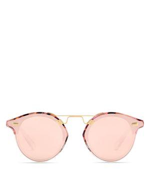 Krewe Women's Stl Ii Nylon 24K Mirrored Round Sunglasses, 63mm