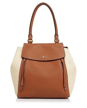 Tory Burch Half-Moon Straw Tote