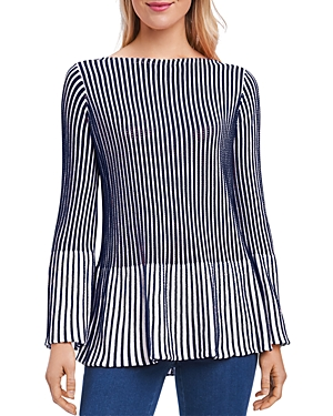 Foxcroft Ribbed Peplum Sweater
