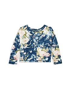 Polo Ralph Lauren Girls' Floral French Terry Sweatshirt - Little Kid - Bloomingdale's_0
