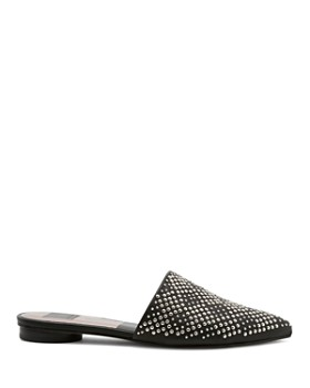 Dolce Vita - Women's Elvah Studded Leather Pointed Toe Mules